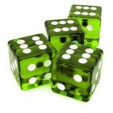 Green Dice Royalty Free Stock Photos
