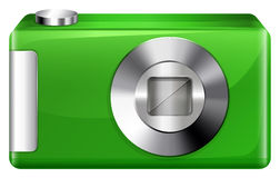 A green digicam. Llustration of a green digicam on a white background Royalty Free Stock Photos
