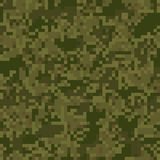 Green digit camouflage seamless pattern Stock Photo