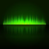 Green Digital Abstract Equalizer Background. Stock Image