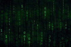 The green digital binary code matrix background Royalty Free Stock Image