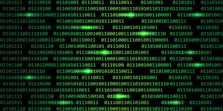 Green digital binary code web technology background stock illustration