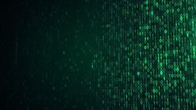 Green digital binary data code with DOF. Green digital binary data code. Abstract information technology concept. Computer generated illustration rendered with Stock Photography