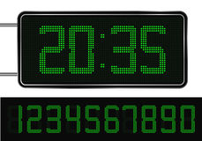 Green Digital Clock Stock Images