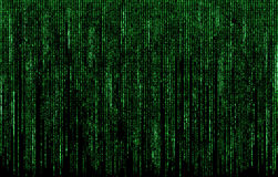 Green digital code numbers Stock Images