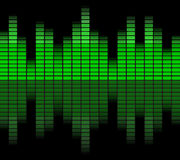 Green digital equalizer Royalty Free Stock Images