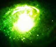 Green Digital Galaxy Stock Images