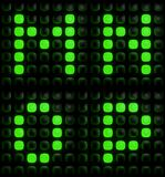 Green digital letters Stock Images