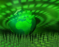 Green digital planet Royalty Free Stock Photo