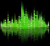 Green digital sound equalizer vector illustration