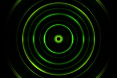 Green Digital Sound Wave Or Circle Signal, Abstract Background Stock Photography