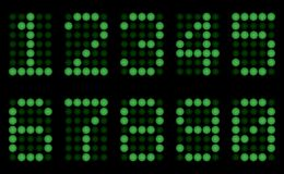Green digits for display. Royalty Free Stock Images