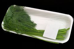 Green dill in packing Royalty Free Stock Images