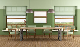 Green Dining room Royalty Free Stock Photography