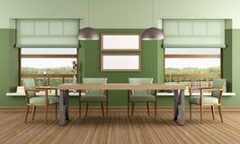 Green Dining room royalty free illustration