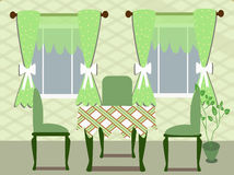 Green dinning room Royalty Free Stock Images