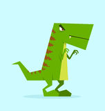 Green dino in action Royalty Free Stock Photography