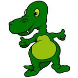 Green Dino Stock Photo