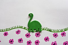 Green foam dinosaur Royalty Free Stock Image