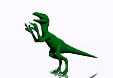 Green Dinosaur Stock Photo