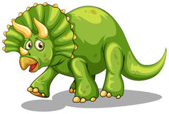 Green dinosaur with horns Royalty Free Stock Images
