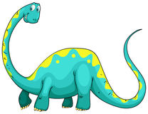 Green dinosaur with long neck Stock Image