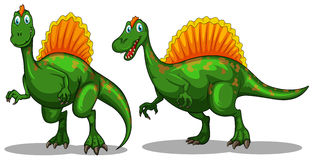 Green dinosaur with sharp claws Royalty Free Stock Photo