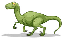 Green dinosaur with sharp claws Stock Photo