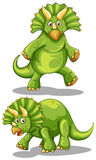 Green dinosaur with sharp horns Royalty Free Stock Images