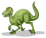 Green dinosaur with sharp teeth Royalty Free Stock Photography