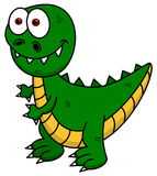 Green dinosaur smiling Stock Photos