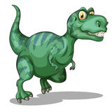 Green dinosaur standing alone on white Royalty Free Stock Photo