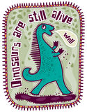 Green dinosaur Stock Photos