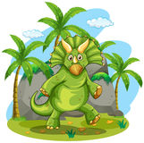 Green dinosaur standing on two feet Royalty Free Stock Images