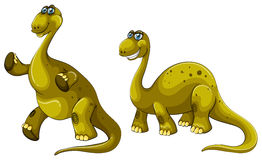 Green dinosaurs with long necks Royalty Free Stock Photo