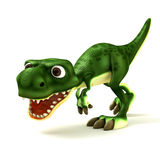 Green Dinosaurus looking mad Royalty Free Stock Images