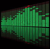 Green diod graphic equalizer Stock Photography