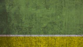 Empty yellow stripe on green grunge wall. Green dirty grunge wall with yellow stripe royalty free stock image