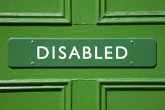 Green Disabled Sign Stock Photo