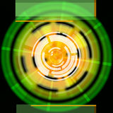 Green Disc Background Shows LP Circles And Rectangles Stock Image