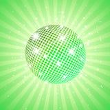 Green disco ball Stock Photo