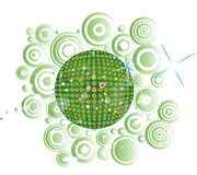 Green disco globe Stock Images