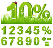 Green Discount In Grass. Vector Royalty Free Stock Photos
