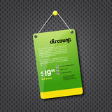 Green discount hanging sign Royalty Free Stock Images
