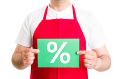 Green discount sign or symbol Stock Image