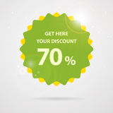 Green discount sticker illustration Royalty Free Stock Photos
