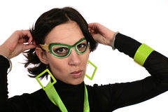 Green disguise Royalty Free Stock Image