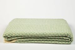 Green dish towel with stripes Stock Photography