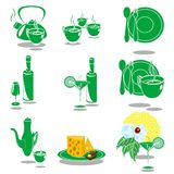 Green dishes Royalty Free Stock Photo