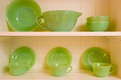 Green Dishes Royalty Free Stock Photos